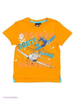 Футболка Planes. Цвет: оранжевый