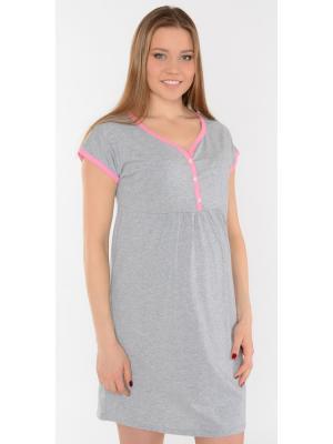 Ночная сорочка Ням-Ням. Цвет: серый меланж, розовый