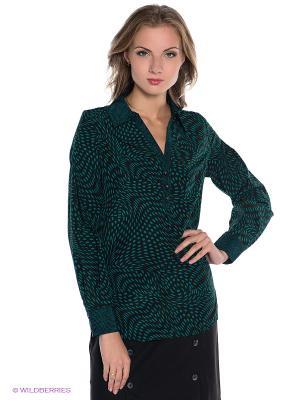 Блузка PELICAN. Цвет: зеленый, черный