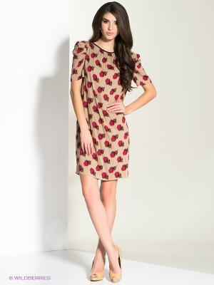 Платье MICHELLE WINDHEUSER. Цвет: светло-коричневый