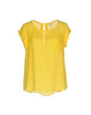 Блузка JOIE. Цвет: желтый
