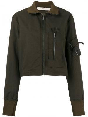 Приталенная куртка-бомбер Damir Doma. Цвет: зелёный