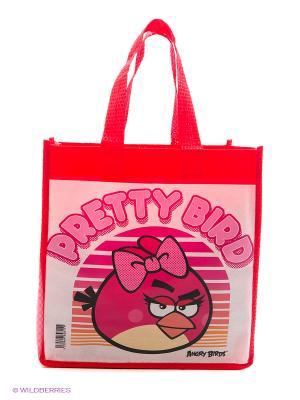 Сумочка Angry Birds с ручками Centrum. Цвет: розовый