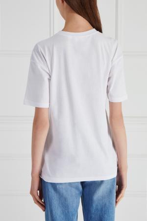Хлопковая футболка Girls In Bloom. Цвет: белый
