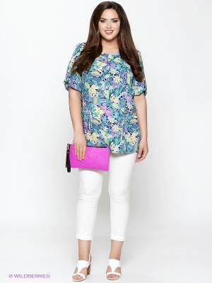 Комплект одежды Amelia Lux. Цвет: бирюзовый, белый, сиреневый