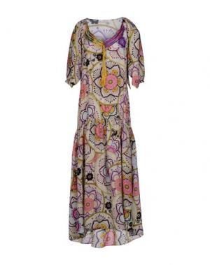 Длинное платье ANJUNA. Цвет: светло-серый