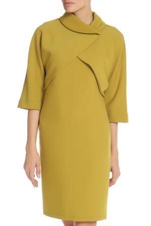 Костюм: жакет, платье Adzhedo. Цвет: оливковый