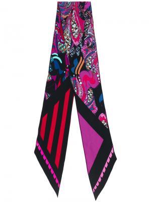 Полосатый шарф Rockins. Цвет: чёрный