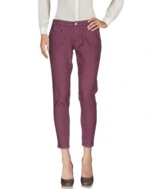 Повседневные брюки 0/ZERO CONSTRUCTION. Цвет: розовато-лиловый