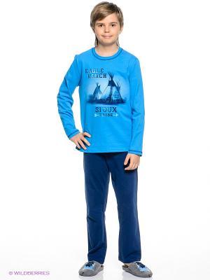 Пижама Sanetta. Цвет: темно-синий, синий