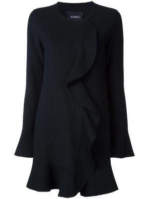 Платье с оборками Goen.J. Цвет: чёрный