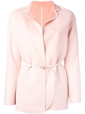 Двустороннее пальто с поясом Loro Piana. Цвет: розовый и фиолетовый