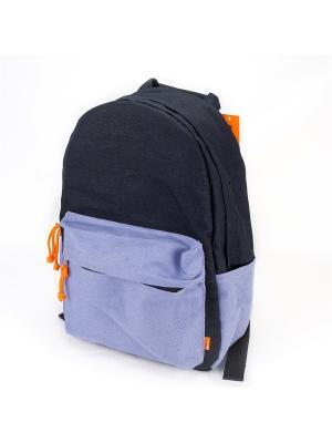 Городской рюкзак TIMBAG. Цвет: черный, сиреневый