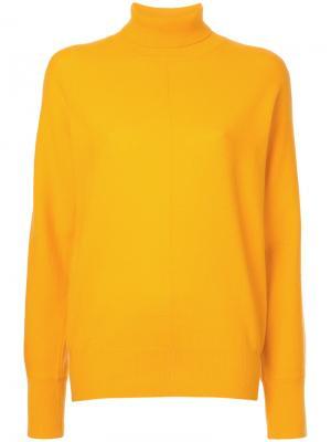 Джемпер-водолазка Astraet. Цвет: жёлтый и оранжевый