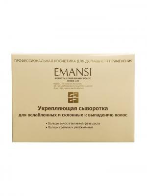 Emansi Укрепляющая сыворотка для ослабленных волос, 10 шт*10 мл. Цвет: прозрачный