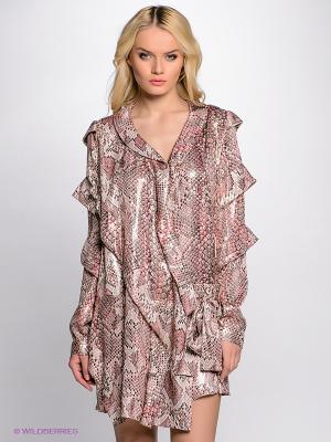 Платье Just Cavalli. Цвет: розовый
