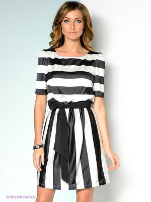 Платье ZARINA. Цвет: черный, белый