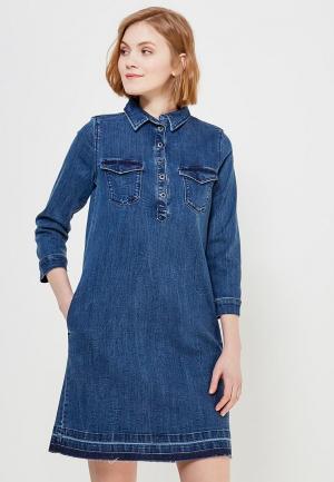 Платье джинсовое s.Oliver. Цвет: синий