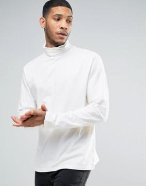 New Look Белая водолазка с длинными рукавами. Цвет: белый