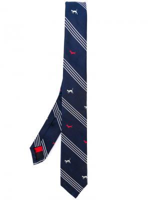 Галстук с вышивкой Thom Browne. Цвет: синий