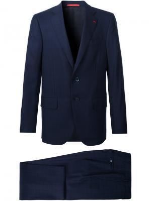 Классический костюм Isaia. Цвет: синий