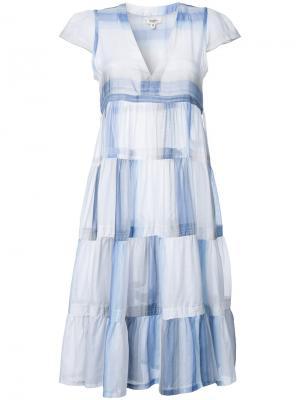 Платье с оборками Lemlem. Цвет: белый