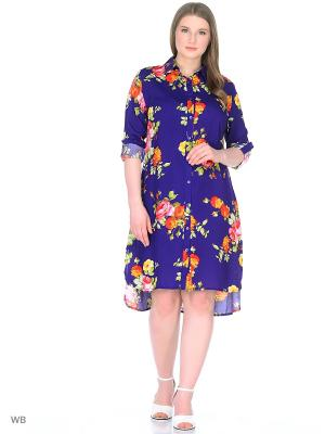 Блуза Хохлома BlagoF. Цвет: фиолетовый