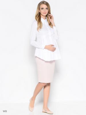 Блузка Trendy Tummy. Цвет: белый