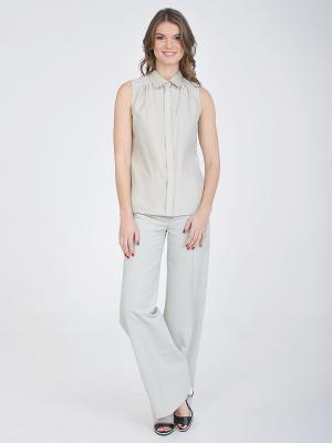 Блузка VITA STRETTA. Цвет: светло-бежевый