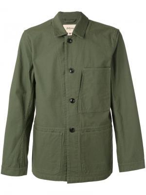Саржевая куртка Bellerose. Цвет: зелёный