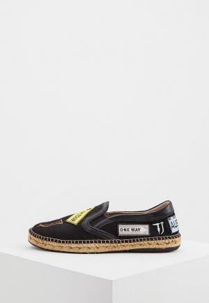 Эспадрильи Trussardi Jeans. Цвет: черный