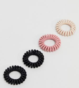 ASOS Набор из 4 резинок для волос. Цвет: мульти