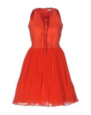 Короткое платье MANOUSH. Цвет: коралловый