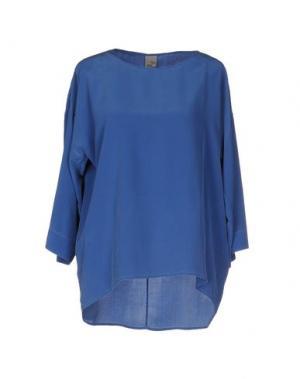 Блузка QL2 QUELLEDUE. Цвет: синий