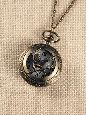 Кулон-часы Птица со стрелой Mitya Veselkov. Цвет: бронзовый