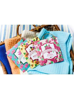 Аромасаше  Цветочный сад, 10 штук: 6 ароматов по 1 шт и 2 аромата шт. Индокитай. Цвет: голубой, бежевый, светло-оранжевый
