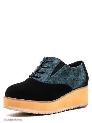 Ботинки Strange. Цвет: черный, темно-зеленый