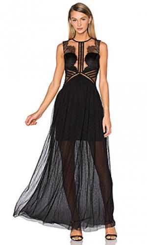 Вечернее платье portman Three Floor. Цвет: черный