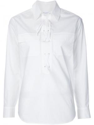 Рубашка со шнуровкой Equipment. Цвет: белый