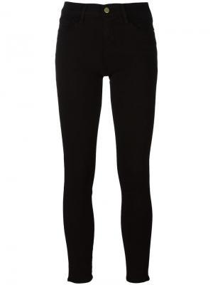 Узкие джинсы Frame Denim. Цвет: чёрный