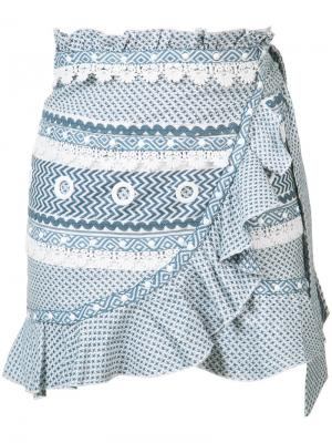 Мини юбка с оборками Dodo Bar Or. Цвет: синий