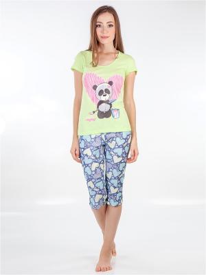 Пижама LORICCI. Цвет: салатовый