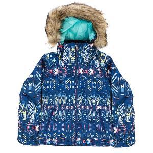 Куртка утепленная детская  Jet Ski Girl G Snjt Sodalite Blue_haveli Roxy. Цвет: мультиколор