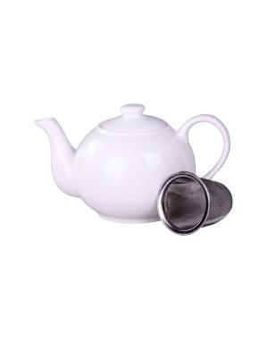 Чайник с металлическим фильтром 400 мл. PATRICIA. Цвет: белый