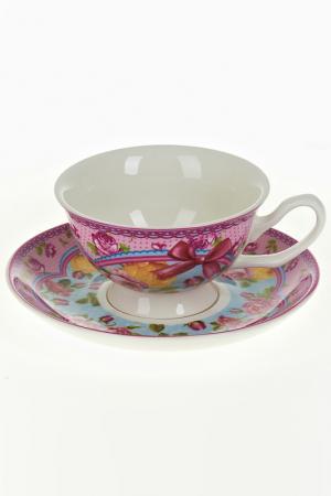 Чайный набор 2пр, 180 мл Nouvelle. Цвет: розовый, голубой, красный