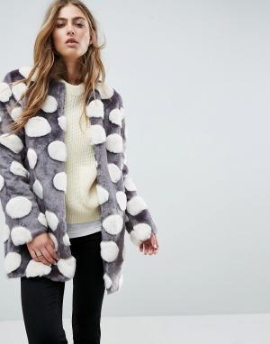Unreal Fur Искусственный полушубок. Цвет: мульти