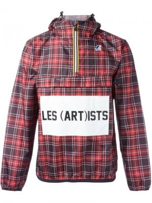 Куртка в клетку K-Way X Les (Art)Ists. Цвет: красный