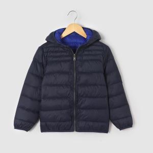 Куртка стеганая тонкая двухсторонняя, 3-12 лет La Redoute Collections. Цвет: темно-синий,черный/бордовый