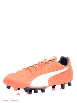 Бутсы Puma. Цвет: оранжевый