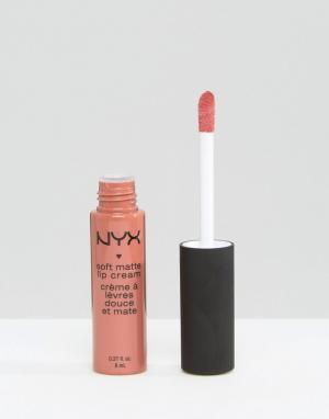 NYX Professional Makeup Мягкий матовый крем для губ Make-Up. Цвет: бежевый